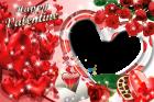 montaje corazones y rosas rojas